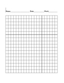 Grid Paper with Name, Date, and Work