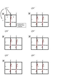 Grid Worksheet for Long Division