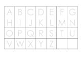 Grid (alphabet - UPPERCASE - landscape)