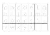 Grid (alphabet - lowercase - landscape)