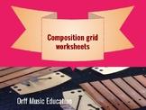 Grid-based composition worksheets