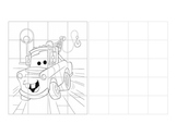 Grid drawing practice extra credit cars mater outline