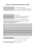 Grid for a Personal Business Letter