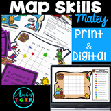 Map Skills Bundle Digital & Print - Grid Maps, Latitude Lo