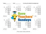 Grid method multiplication lesson plans, worksheets and more