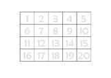 Grid (numerals - landscape)