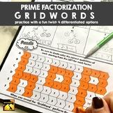 GridWords Challenge: Prime Factorization / Factor Trees