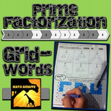 GridWords Challenge: Prime Factorization / Factor Trees