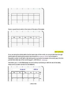 Gridbook Math: Class Calendar for August