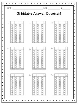 Griddable Answer Practice