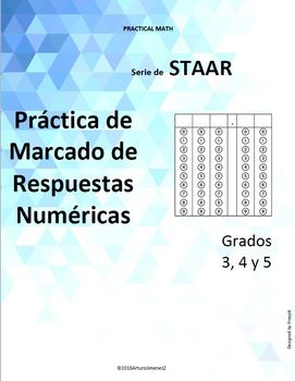 Griddable Answer Practice for STAAR - English & Spanish - 3rd, 4th & 5th Grade