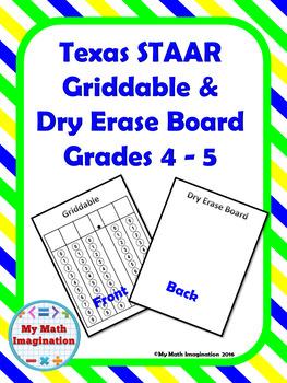 Griddable & Dry Erase Board Grades 4 - 5 STAAR Test
