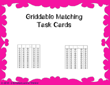Griddable Matching Task Cards TEKS 5.3E, 5.3G, 5.3K