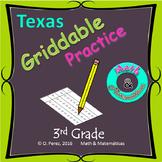 Griddable practice for STAAR test - 3rd Grade.