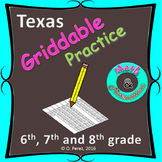 Griddable practice for STAAR test - 6th, 7th and 8th Grade.