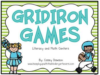 Gridiron Games (Literacy and Math Centers for Football Season)