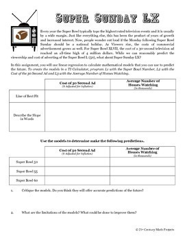 "Gridiron Glory -- ""Big Game"" Data & Paper Football - 21st Century Math Project"