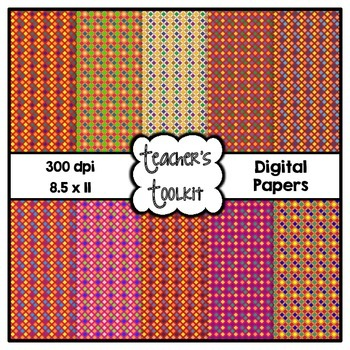 Colorful Grids Digital Background Papers {8.5 x 11} Clip A