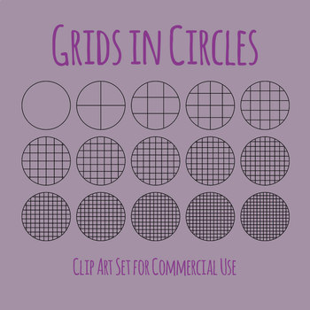 Grids in Circles Blank Pattern Templates Symmetry Etc Clip Art Commercial Use