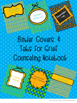 Grief Counseling Binder Covers & Tabs