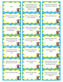 Grief Game Question Cards