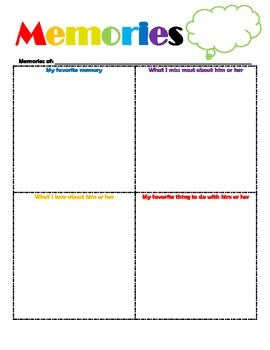 Grief/Loss Activity for Elementary Ages
