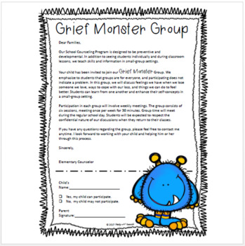 Grief Monsters - Grief Group Lesson Plans & Activities