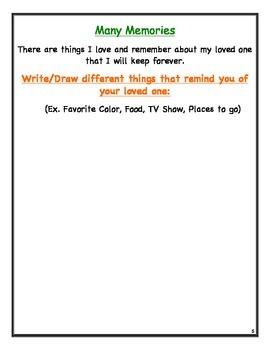 Grief Student Memory Workbook