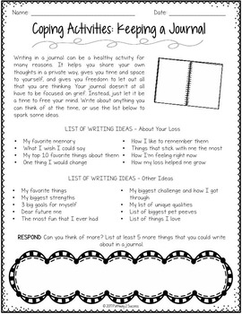 Grief worksheets for adults