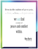 Grief and Loss, Peace and Comfort Within - Inspirational Poster