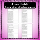 Grievances of the  Declaration of Independence