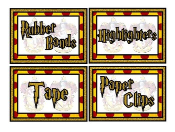 Griff Wizard Themed Labels