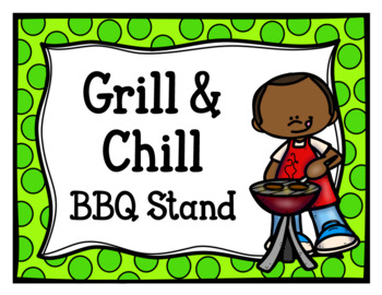 Grill & Chill BBQ Stand (Dramatic Play)