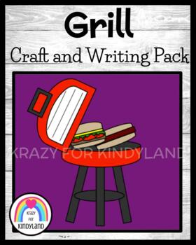 Summer Picnic Craft and Writing: Grill  (Father's Day, Camping)