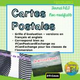Grille d'évaluation BILINGUE: carte postale - French & Eng