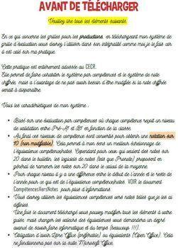 Grilles d'Evaluation Collège LV2 -  Nouveau CECR - Compréhensions ET Productions