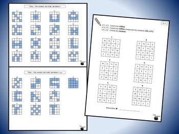 Grilles de nombres 2 (croissant/décroissant, suites, chiffres/nombres, etc.)