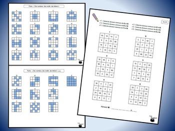 Grilles de nombres 4 (nombres premiers, diviseurs, diviseurs communs)