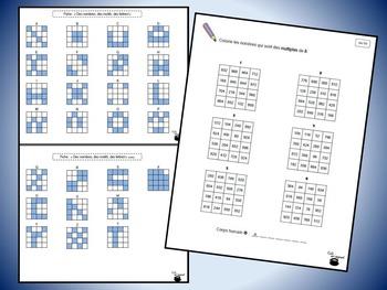 Grilles de nombres 5 (multiples, caractères de divisibilité, etc.)