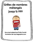 Grilles de nombres mélangés/ French mix numbers chart