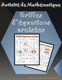 Grilles d'équations croisées / Math Crossover
