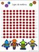 Grilles et lignes de nombres jusqu'à 100 (Number grids, lines to 100 in French)