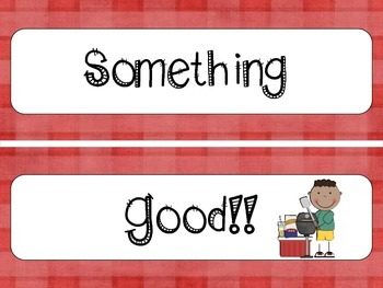 "Grilling Themed ""Cooking Up Something Good"" and other Bulletin Board sayings K-5"