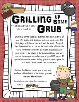 Grilling Up Some Grub - A Plural Grab Game