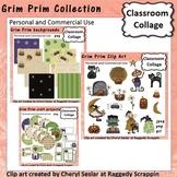 Grim Prim - Color - Halloween papers crafts C. Seslar