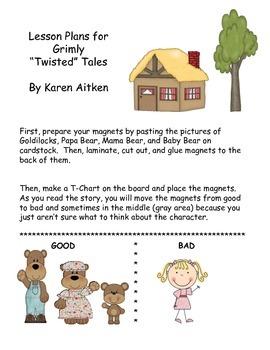 "Grimly ""Twisted"" Tales - Goldilocks and the Three Bears"