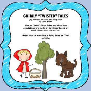"""Grimly """"Twisted"""" Tales -Wolf and Red Riding Hood"""