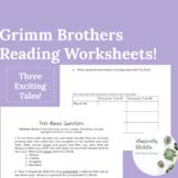Grimm Brothers Reading Comp Worksheets! (Cinderella, Rapunzel, & Rumplestilskin)