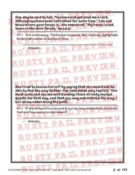 Grimm's Fairy Tales - 3rd Grade Math Problem Solving – Part 2