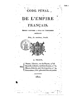 Grimm's Fairy Tales and the French Penal Code